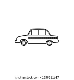 taxi icon in trendy flat design