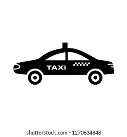 Taxi icon vector flat trendy