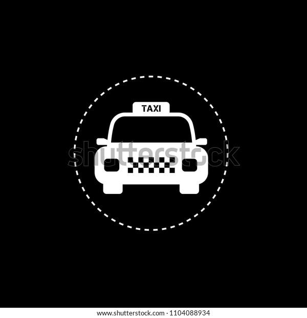 Taxi icon, vector illustration. taxi car