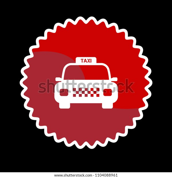 Taxi icon, vector illustration. taxi car