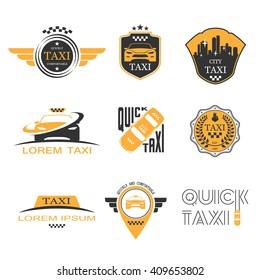 Taxi labels set