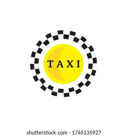 Taxi logo isolated on white background. Taxi service brand design.