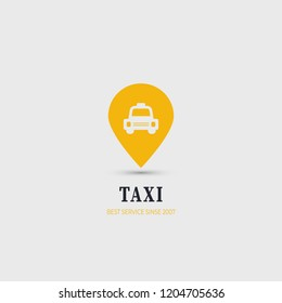 Taxi logo. Public transport symbol for web, mobiles and devices.