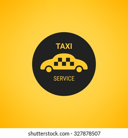 Taxi logo, service. Public transport symbol.