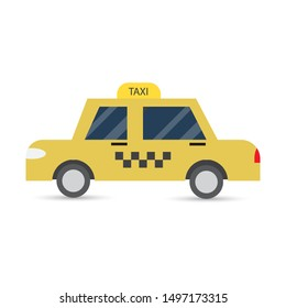 Taxi service in flat design.Vector illustration. - Shutterstock ID 1497173315