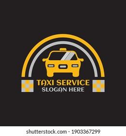 Taxi service logo symbol template