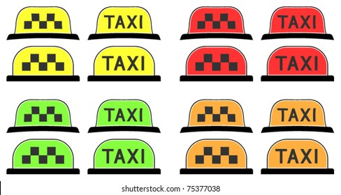 Taxi sign (symbol) - vector illustration