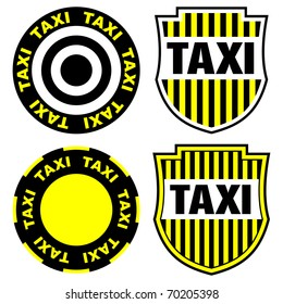taxi signs and emblems
