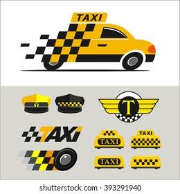 Taxi. Vector logo. Icons taxi.