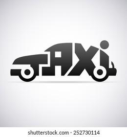 Taxi vector logo template