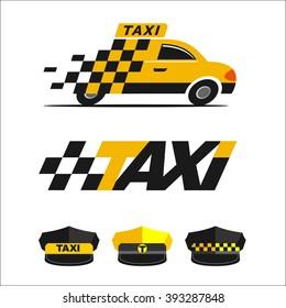 Taxi. Vector logos. Icons