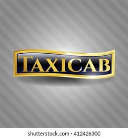 Taxicab gold emblem or badge