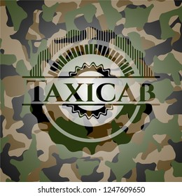 Taxicab on camouflaged texture