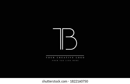 TB BT abstract vector logo monogram template