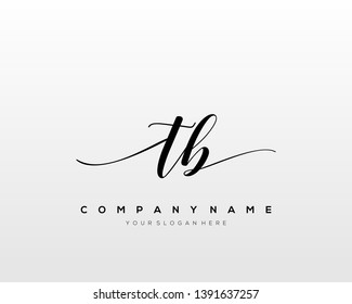 TB handwriting initial  logo vector
