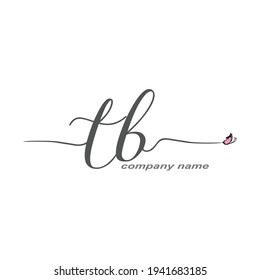 TB Initial Handwriting logo luxury vector beauty