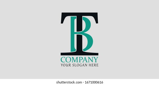 TB initial letter logo design for your company brand