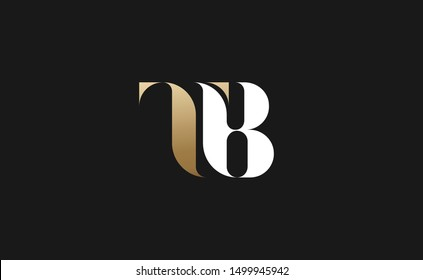TB Letter Logo Design with Creative Modern Trendy Typography