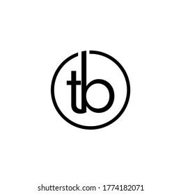 TB letter logo design premium