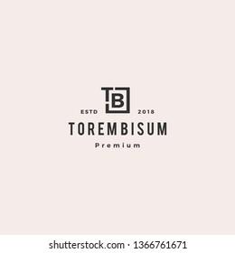 TB letter mark logo vector icon