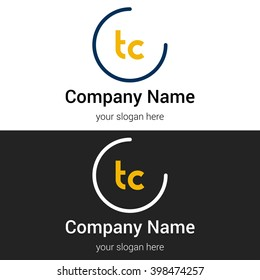 TC business logo icon design template elements. Vector color sign.