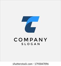 TC or CT modern lettermark logo. editable and easy to custom