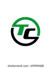 TC initial circle logo template vector