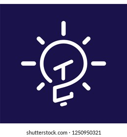 TC Initial Letter with creative bulb Logo vector element. Initial letter bulb Logo Template