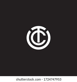 TC initial letters looping linked circle elegant logo