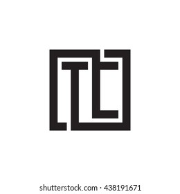 TC initial letters looping linked square monogram logo