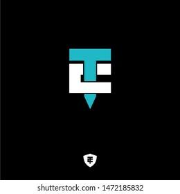TC letter logo design premium