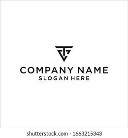 TC logo icon design vector