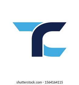 TC logo initial letter design template vector illustration
