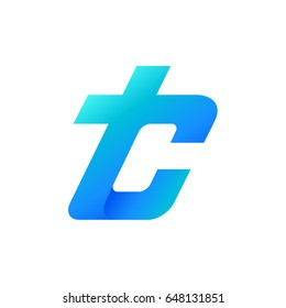 TC Logo, Letter T And Letter C Initial Logo Template
