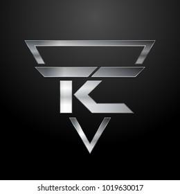 TC Logo, Metal Logo, Silver Logo, Monogram, Polygon