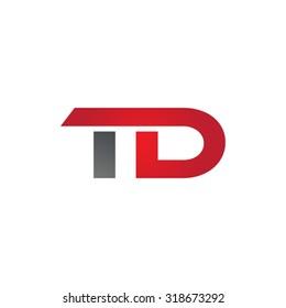 TD company group linked letter logo