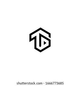 TD T D Letter Logo Design Vector