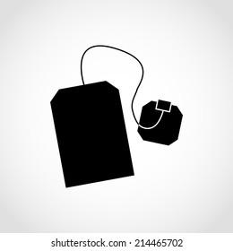 Tea bag Icon Isolated on White Background