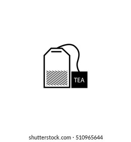 tea bag icon -  vector