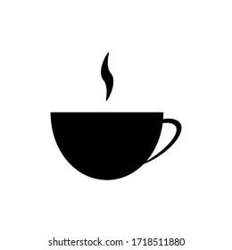 Tea, coffe cup icon glyph illustration