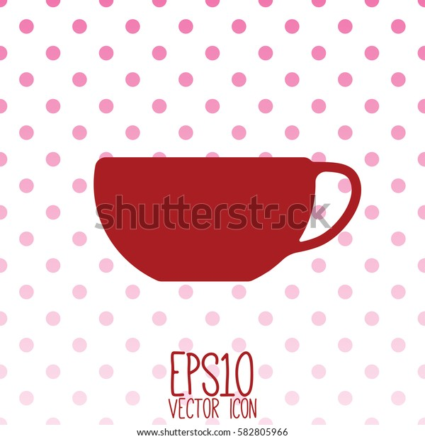Tea and coffe cup vector icon. Flat style for graphic and web design, Modern simple vector sign. Internet concept. Trendy symbol for website design web button, mobile app.