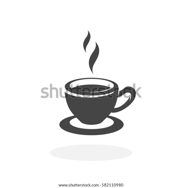 Tea cup icon isolated on white background. Tea cup vector logo. Flat design style. Modern vector pictogram for web graphics - stock vector