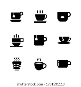 tea cup  icon or logo isolated sign symbol vector illustration - Collection of high quality black style vector icons