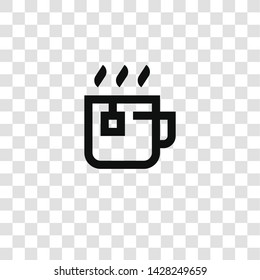 tea cup icon from miscellaneous collection for mobile concept and web apps icon. Transparent outline, thin line tea cup icon for website design and mobile, app development