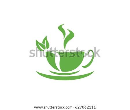 Tea cup logo template stock vector royalty free 627062111 tea cup logo template maxwellsz