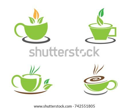 Tea cup logo template vector icon stock vector royalty free tea cup logo template vector icon illustration design maxwellsz