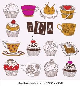 Tea and cupcakes card