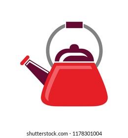 Tea. Fresh brewed tea - teapot, pour in a cup of tea. A beautiful teapot. Stock vector