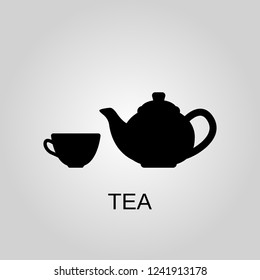 Tea icon. Tea symbol. Flat Vector illustration