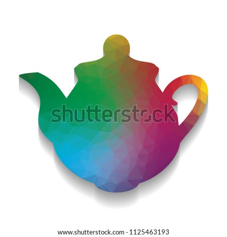 Tea Maker Kitchen Sign Vector Colorful Stock Vector (Royalty